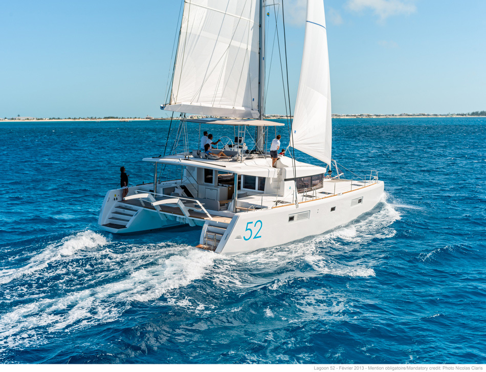 This Lagoon 52 is a good example of an excellent charter boat.