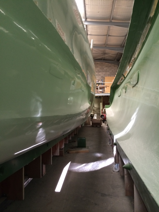 Starboard hull removed from the mold