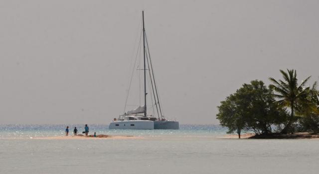 Moana at anchor in Tahiti
