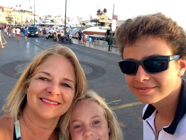 St-Tropez marina (I'm not so good with the selfie-sorry Lindsay)