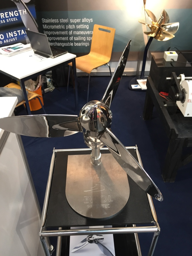 Propeller in sailing position