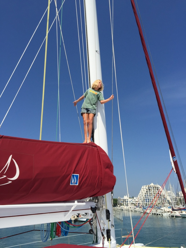 Things can be a bit intimidating for a small person on a big boat!