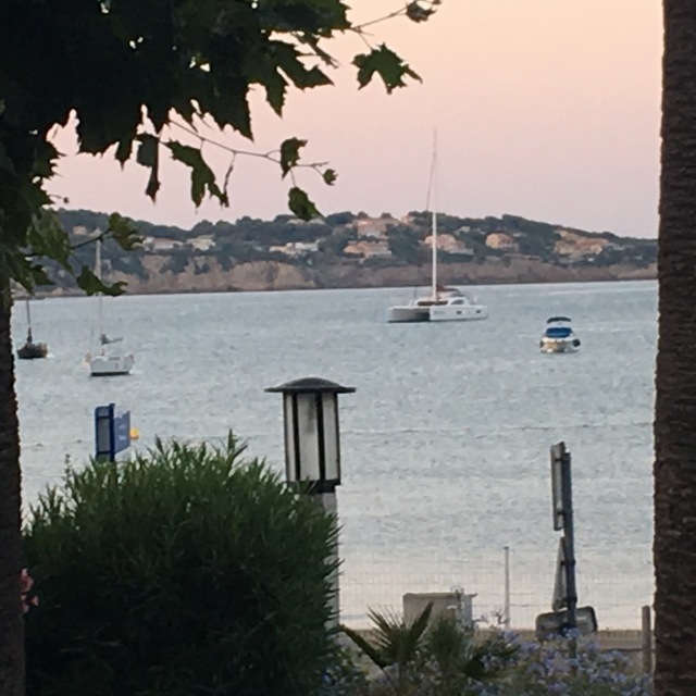 At the anchorage in Bandol